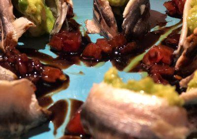 Rollito de anchoas con guacamole - Boutique Hotel el Tío Kiko