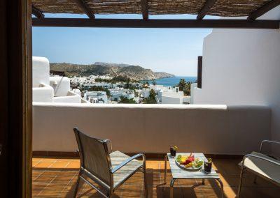 Terraza con vistas a Aguamarga - Boutique Hotel el Tío Kiko