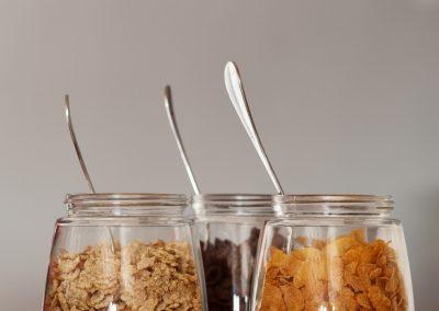 Variedad de cereales para el desayuno - Boutique Hotel el Tío Kiko