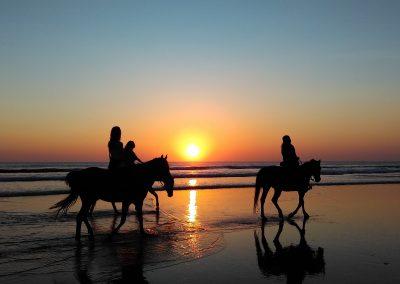 Paseo a caballo al atardecer por la playa de Cabo de Gata - Boutique Hotel el Tío Kiko