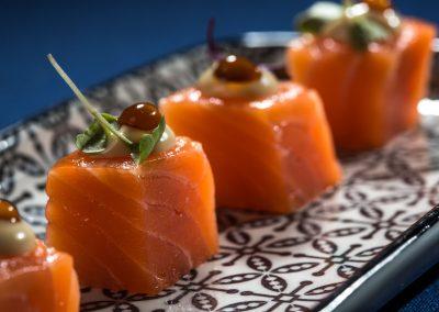Canapé de salmón ahumado - Boutique Hotel el Tío Kiko